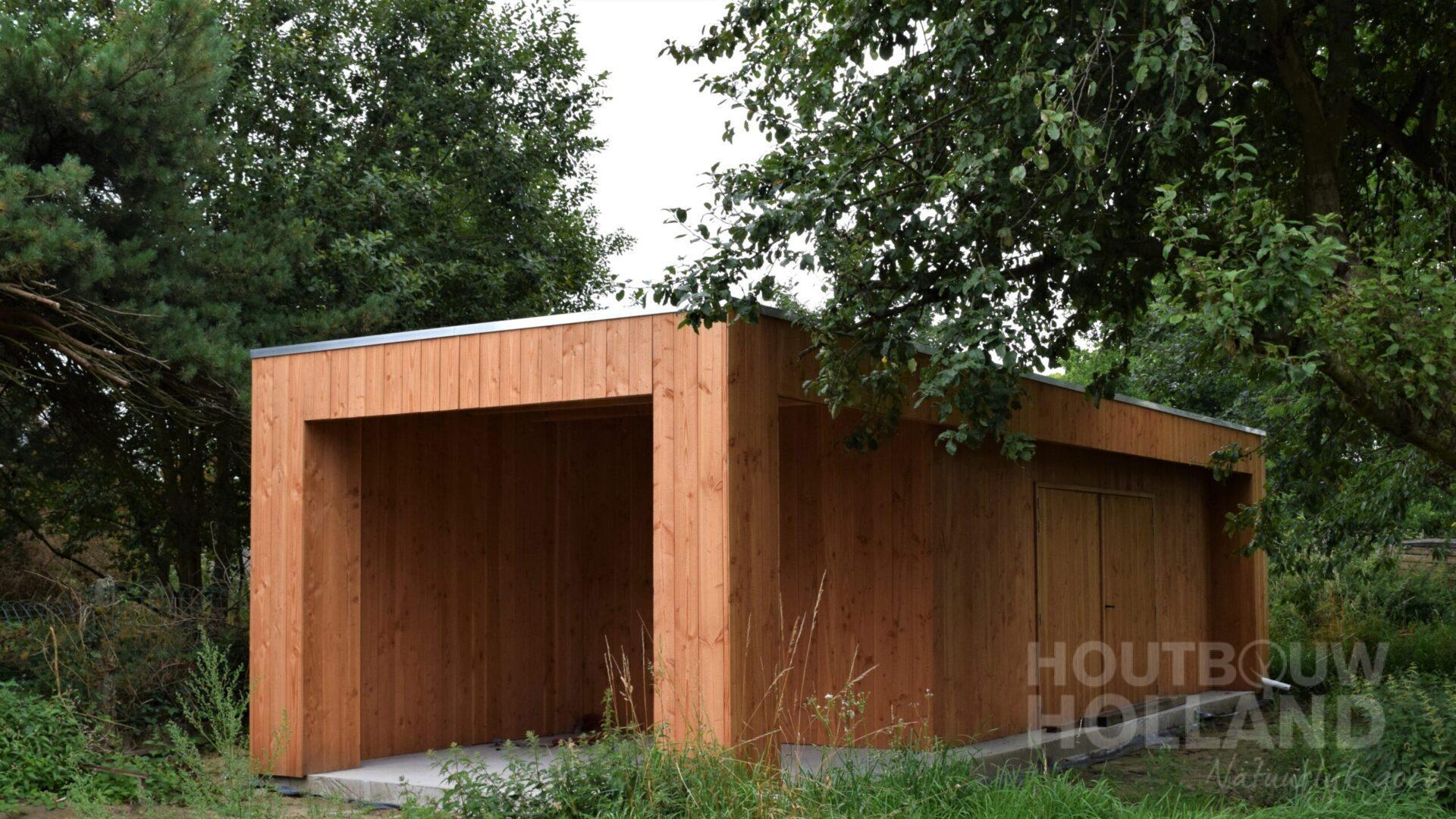 Modern tuinhuis met veranda 8